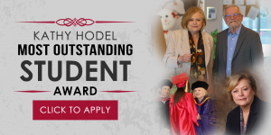 Kathy Hodel most outstanding student award - click to apply